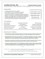 Sample Resume: Counselling & Social Services
